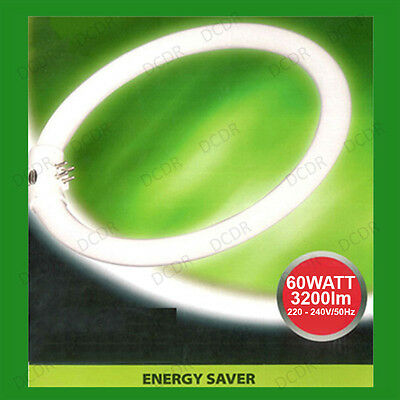 1x 60W G10Q 4 Pin T9 Round 400mm Circular Lamp Fluorescent Tube Ring Light Bulb • 9.95£