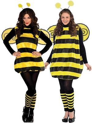 Ladies Darling Bumble Bee Costume Adults Bug Fancy Dress Outfit Insect STD - XL • 19.99£