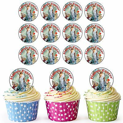 £3.75 • Buy 24 Circle Edible Easter Cupcake Toppers Cake Decoration Religious Jesus Themed