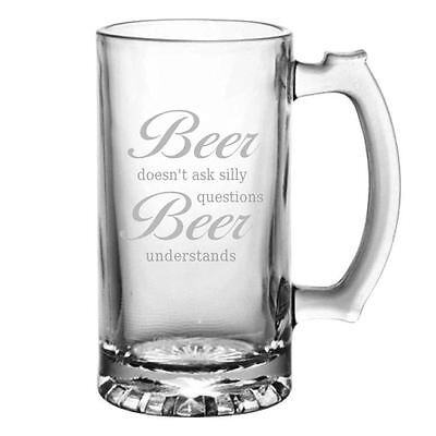Personalised Beer Understands Glass Tankard In Gift Box, Engraved Birthday Gift • 13.99£