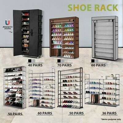 AU29.95 • Buy 50/60/70 Pairs 10 Tier Shoe Rack Cabinet Stackable Storage Organiser Shelf Stand