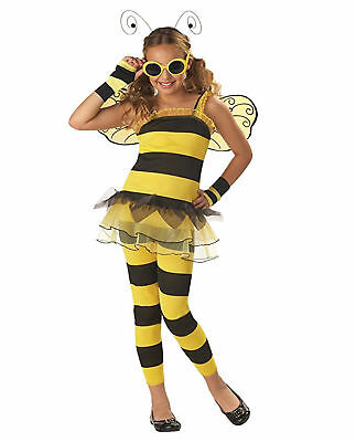 £20.30 • Buy Girls Little Honey Bumble Bee Costume Child Yellow Save The Bees S L 6-8 10-12