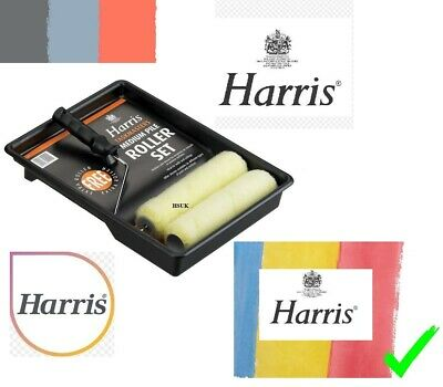 £6.99 • Buy Harris Paint Emulsion Roller Tray Set 9  & Roller With Handle And Spare Sleeve