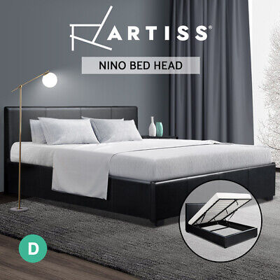AU249.95 • Buy Artiss Bed Frame Double Full Size Gas Lift Base With Storage  Leather