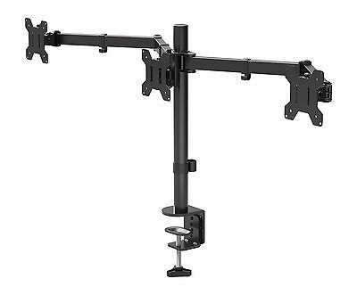 £35.99 • Buy Triple Arm Desk Mount LCD LED Computer Monitor Bracket Stand 13 -24  Screen TV