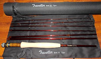 $139.95 • Buy Traveller 6WT Fly Fishing  Rod 9FT 7SEC Carbon  &  Rod Case FREE 3 DAY DELIVERY