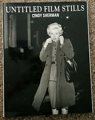 "CINDY SHERMAN Untitled #119 13.5/"" x 23.75/"" Poster 2013 Photography Blue Black"