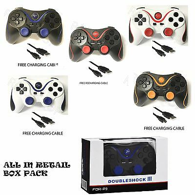 New Bluetooth Wireless Gamepad Controller Joystick Remote For Playstation 3 Ps3 • 8.98£