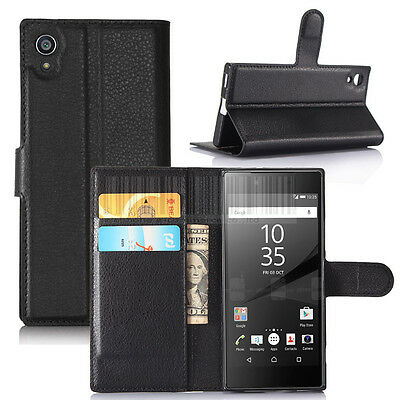 $ CDN5.01 • Buy For Sony Xperia XA1 / Ultra PU Leather Flip Wallet Case Card Slots Pouch Cover