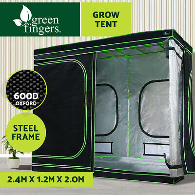 AU209.90 • Buy Greenfingers Grow Tent Kits 2.4m X 1.2m X 2m Hydroponics Indoor Grow System