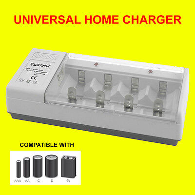 Lloytron B044 Universal Battery Charger For AA AAA C D 9v Rechargeable Batteries • 12.99£