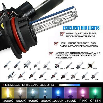 $12.99 • Buy Two 35W 55W Xenon Light HID Kit 's Replacement Bulbs H1 H3 H7 H10 H11 9006 9012