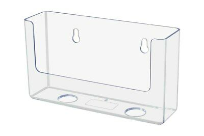 $10.99 • Buy 6.5 W Clear Acrylic Postcard Holder Wall Or Table Top /Display Stand - Clear