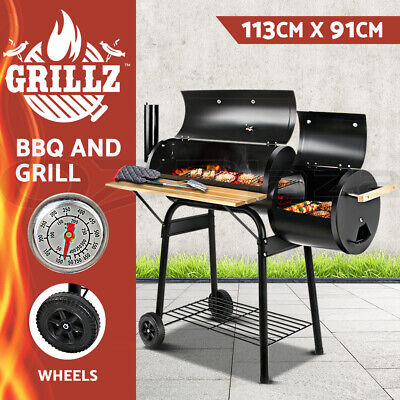 AU139 • Buy Grillz BBQ Smoker Charcoal Grill Roaster Portable Outdoor Camping Barbecue 2in1
