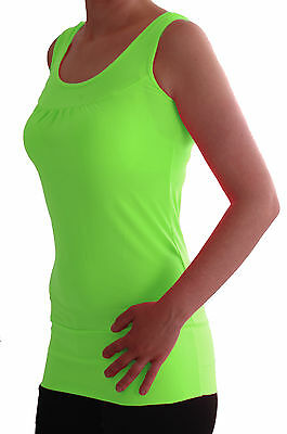 £5.95 • Buy Womens Plain Sleeveless Scoop Neck Casual Skinny Fit Stretch Long Vest Tank Tops