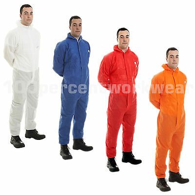 £6.99 • Buy SMS Disposable Overall Coverall Hooded Suit Type 5 6 Protection Hygiene Paint