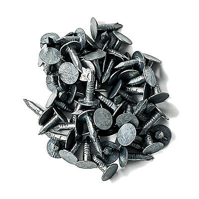 50 X 13mm Galvanised Roof Shed Felt Clout Head Nails Roofing Felt Nails • 1.69£