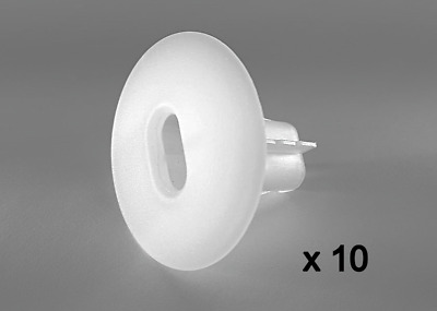 £25.39 • Buy 10 X Plastic Hole Tidy Wall Grommet Sky Twin Double Coax Aerial Cable NATURAL