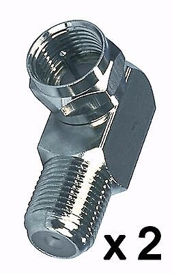 £2.49 • Buy Right Angle Bent F Connector 90 Degree Screw On Male To Female SKY X 2
