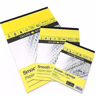 Daler Rowney - Smooth Cartridge Sketchbook - 130gsm - 30 Pages - A3/A4/A5  • 6.49£