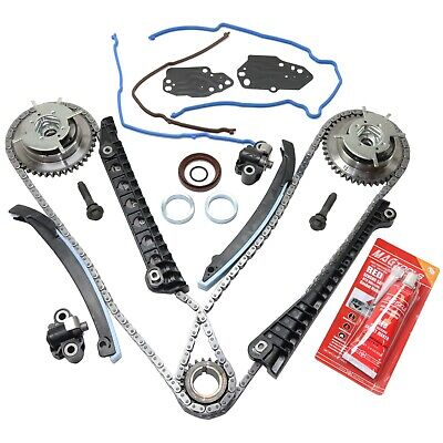 $128.90 • Buy Timing Chain Kit With VVT Cam Phasers Fits F150-350 Navigator 5.4L Triton SOHC