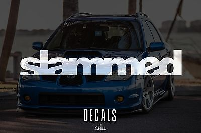 $3.75 • Buy Slammed Decal Sticker - Illest Lowered JDM KDM Stancenation Hellaflush