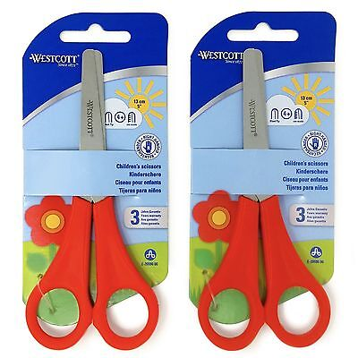 £3.59 • Buy 2 X Red Westcott Right Handed Kid's Children's Safety Scissors - Blunt Ended