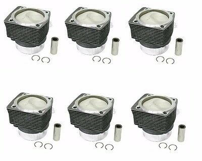 $3049.96 • Buy For Porsche 911 Carrera Set Of 6 Piston & Cylinder MAHLE 99 0174 915