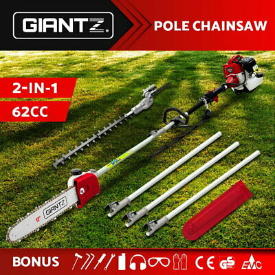 AU209.95 • Buy Giantz 62CC Petrol Pole Chainsaw Hedge Trimmer Pruner Chain Saw Brush Cutter