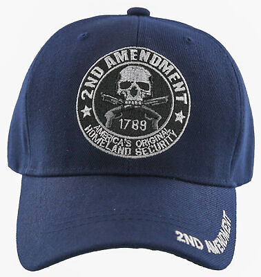 $ CDN13.32 • Buy New! 2nd Amendment Homeland Security Right To Bare Arms Cap Hat Navy
