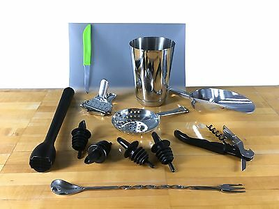 13 Pc Bartending Bartender Kit Supplies - Home And Professional Barware  • 13.95$