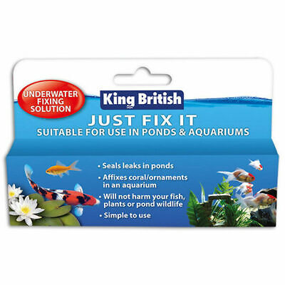 King British Just Fix It Underwater Fixing Sealant Coral Plants Fish Tanks Ponds • 6.25£
