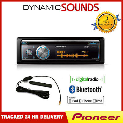 Pioneer DEH-X8700DAB Car Stereo Bluetooth, CD, USB, Aux-In,DAB, Tuner + Aerial • 178.95£