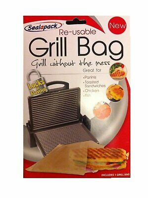 Sealapack Re-usable Grill Bag Gret For Paninis Toasted Sandwiches Chicken Fish • 1.95£