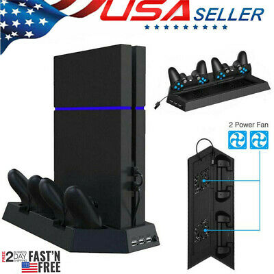AU18.92 • Buy PS4 Cooling Station Vertical Stand With 2 Controller Charging Dock PlayStation 4