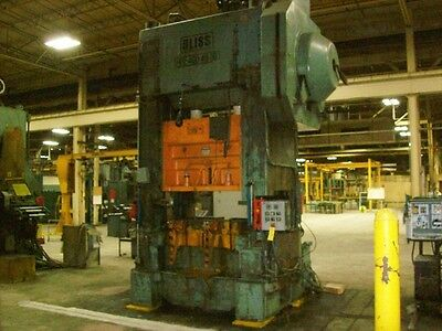 $55000 • Buy 400 Ton Bliss High Speed Straight Side Press, Stamping, Planet Machinery #4710