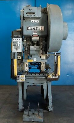$15000 • Buy 45 Ton Minster Open Back Inclinable Press, OBI, Stamping, Planet Machinery #4753