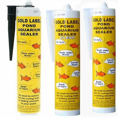 Gold Label Underwater Pond Sealant Sealer Bonder Black / Clear / White 290ml • 17.95£