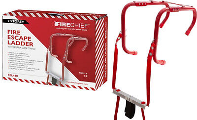4.5m Metre 14ft 2 Storey Emergency Escape Ladder Steps Home Window Fire Safety • 54.99£