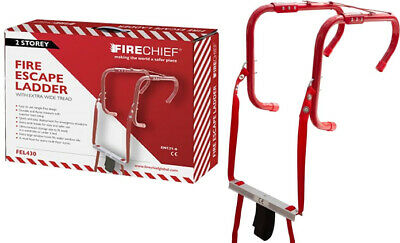 £54.99 • Buy Emergency Fire Escape Ladders 2 Storey Home Window Fire Safety Portable Exit