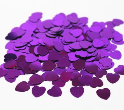 Purple Sparkle Heart Wedding-Engagement Birthday Party Decoration Table Confetti • 1.39£
