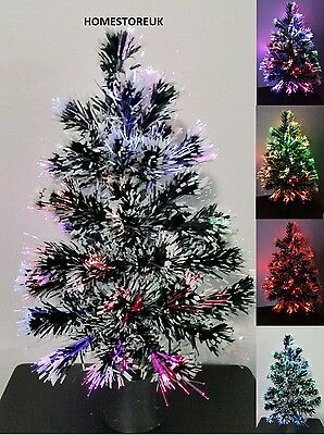 45cm FIBRE OPTIC CHRISTMAS XMAS TREE COLOUR CHANGING LIGHT BATTERY OPERATED 032 • 11.95£