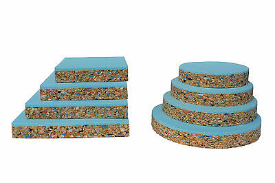 Upholstery Foam Cushion Bar Seats Square Or Round High Density Bonded Layer Pads • 12£