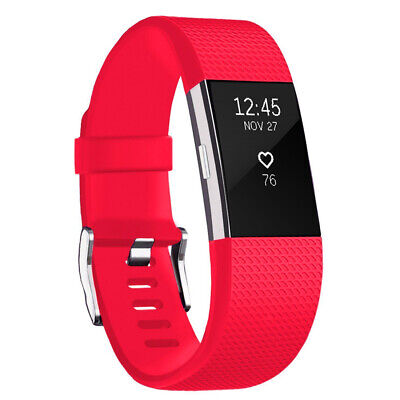 $ CDN6.43 • Buy For Fitbit Charge 2 Band Bracelet Strap Replacement Silicone Large Red