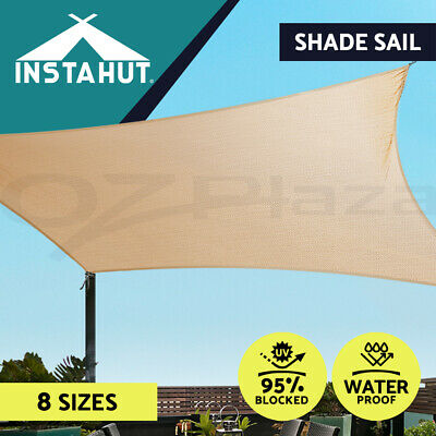 AU78.90 • Buy Instahut Waterproof Shade Sail Awning Cloth Triangle Square Sand Sun Canopy