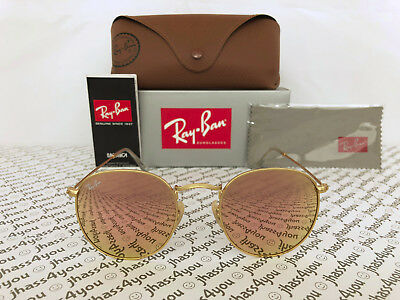 93c7718835 Ray-Ban Round Metal Sunglasses RB3447 112 Z2 Gold Frame Copper Flash Lens