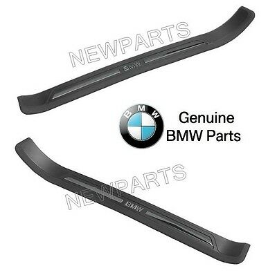 $124.92 • Buy For BMW E39 5 Series Pair Set Of Left & Right Black Door Sill Plates Genuine
