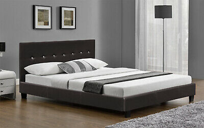 £124.99 • Buy 6FT Super King Size Bed Frame Faux Leather Black Or Brown And With Mattress New