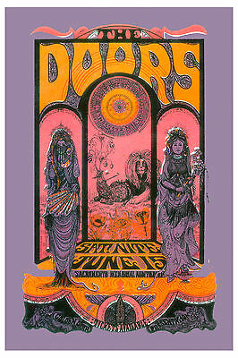 $12 • Buy The Doors At Sacramento Psychedelic  Concert Poster From 1967  13x19