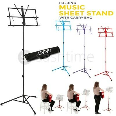 Heavy Duty Foldable Music Stand Holder Base Tripod Orchestral Conductor Sheet Uk • 9.95£